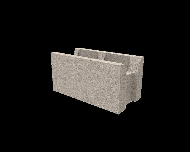 Bloque de hormigon cemento rebaje central